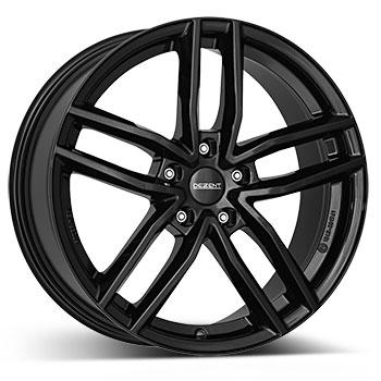 DEZENT TR black hliníkové disky 8x18 5x112 ET39 Čierne lakovanie