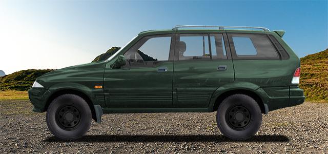 Letní pneumatiky pro osobní automobil  SSANGYONG MUSSO   (MUSSO-FJ;FJ) rv.od 10.1995 2.3  D