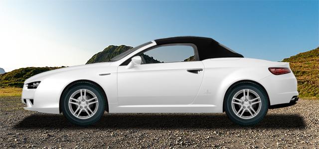 Letní pneumatiky pro osobní automobil  ALFA ROMEO SPIDER   (939) rv.od 09.2006 1.8  TBi
