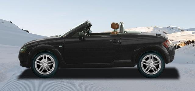 Zimní pneumatiky pro osobní automobil  AUDI TT Roadster   (8N) rv.od 10.1999 3.2  VR6 quattro