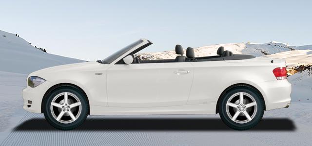 Zimní pneumatiky pro osobní automobil  BMW 1 Cabrio   (E88) (182;1C) rv.od 04.2008 125  i